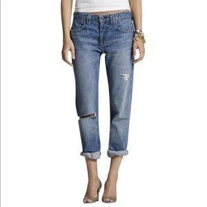 J.Crew Distressed Vintage Slim Straight Leg Jeans